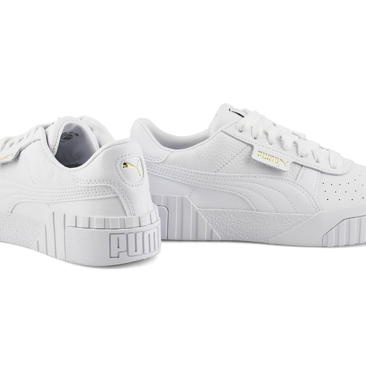 Lds Cali wht/wht lace up sneaker