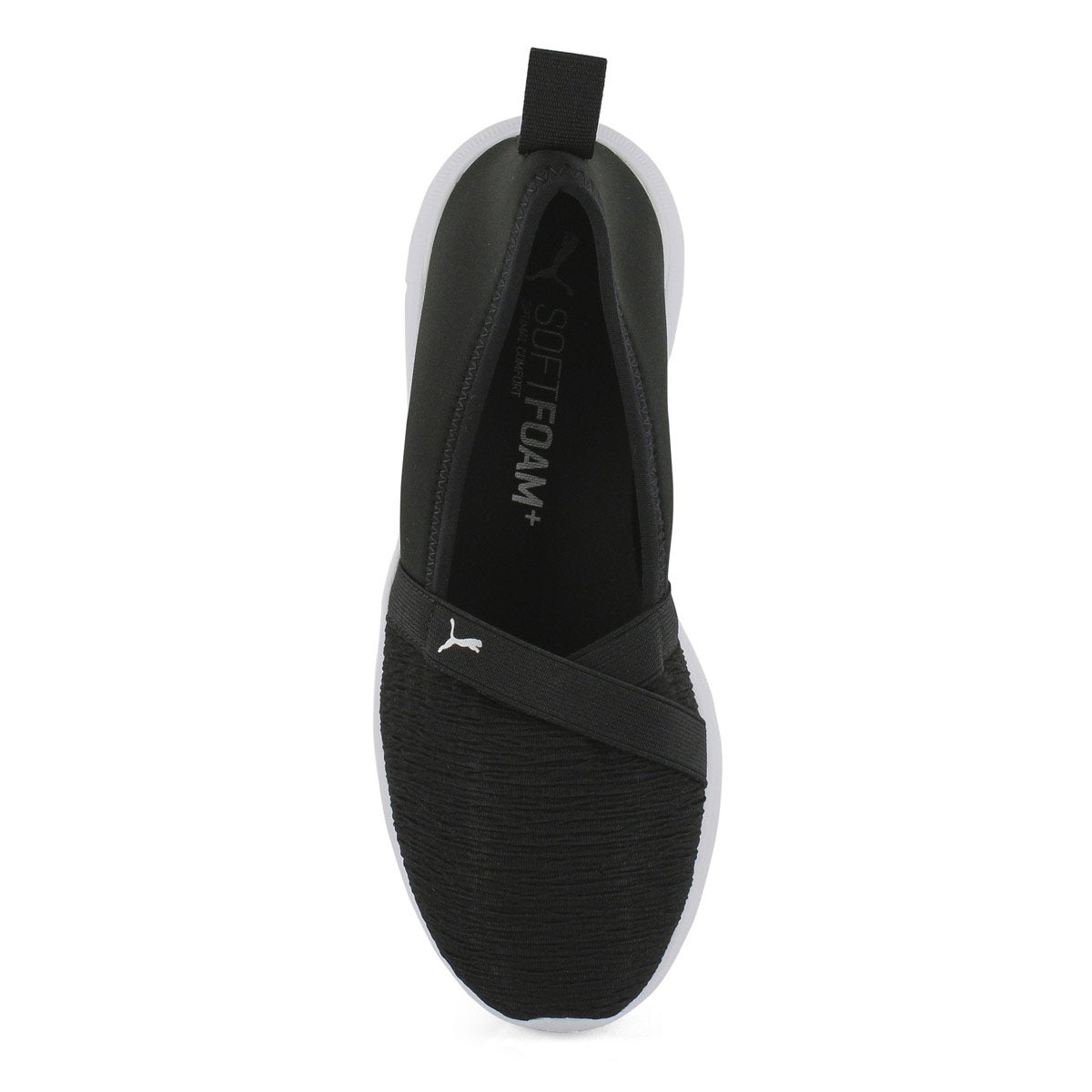 Lds Adelina black/silver slip on