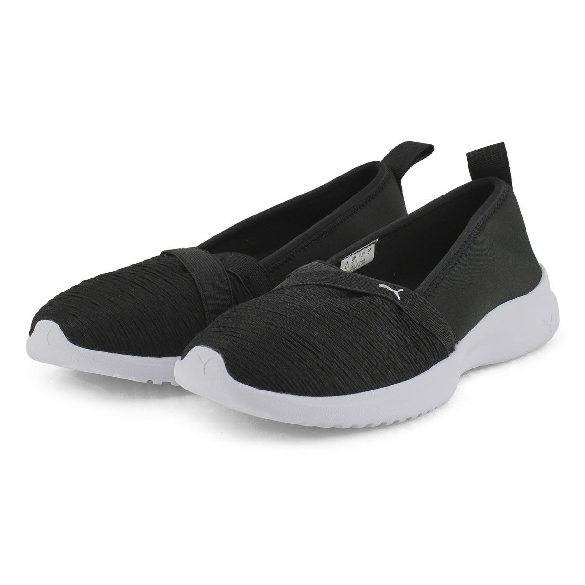 Lds Adelina black/silver slip on