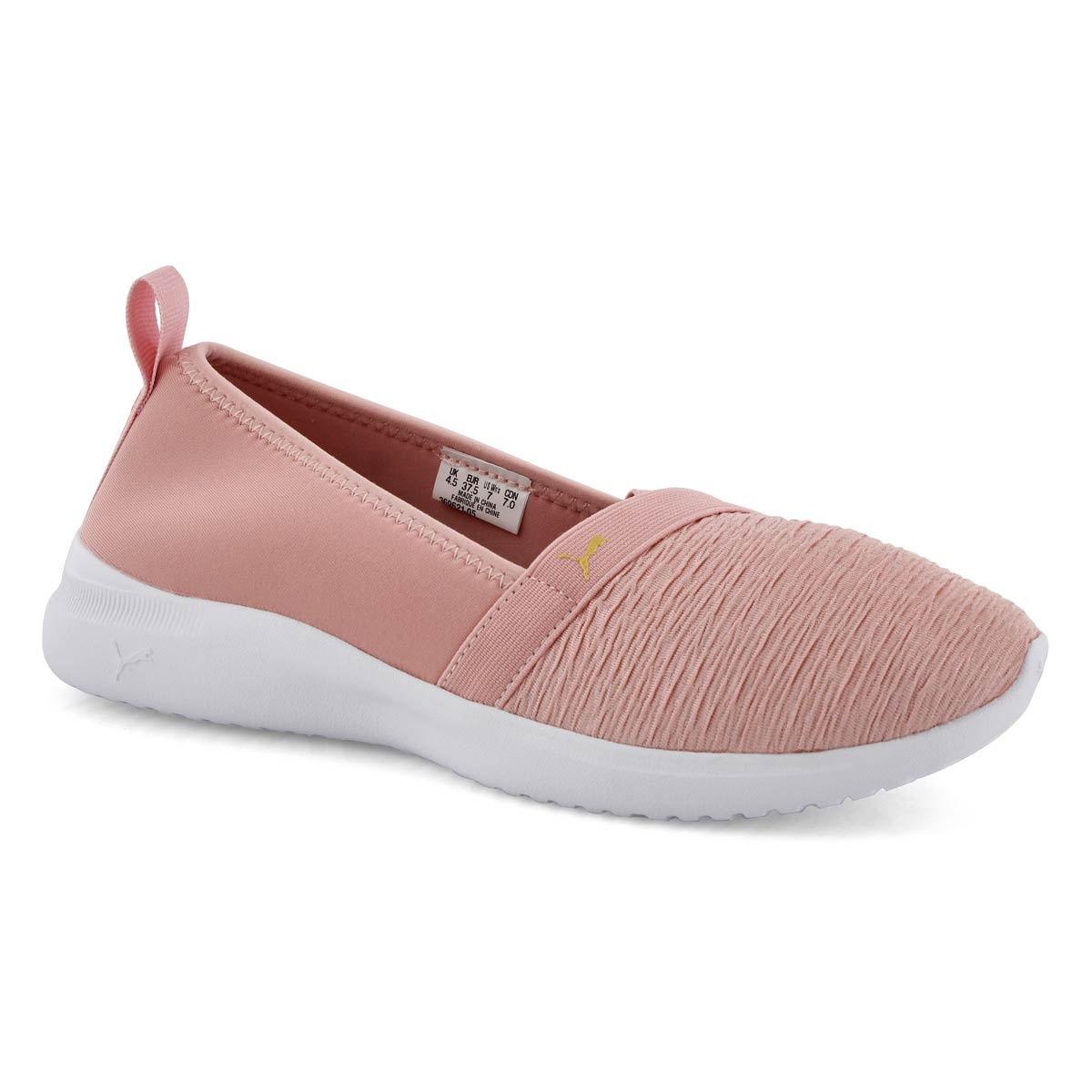 Lds Adelina rose/white slip on
