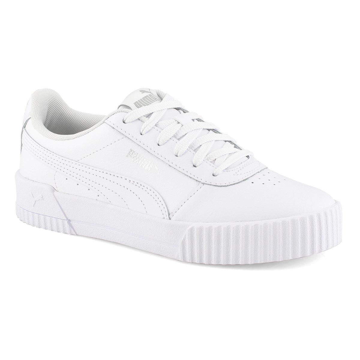Lds Carina L wht/wht lace up sneaker
