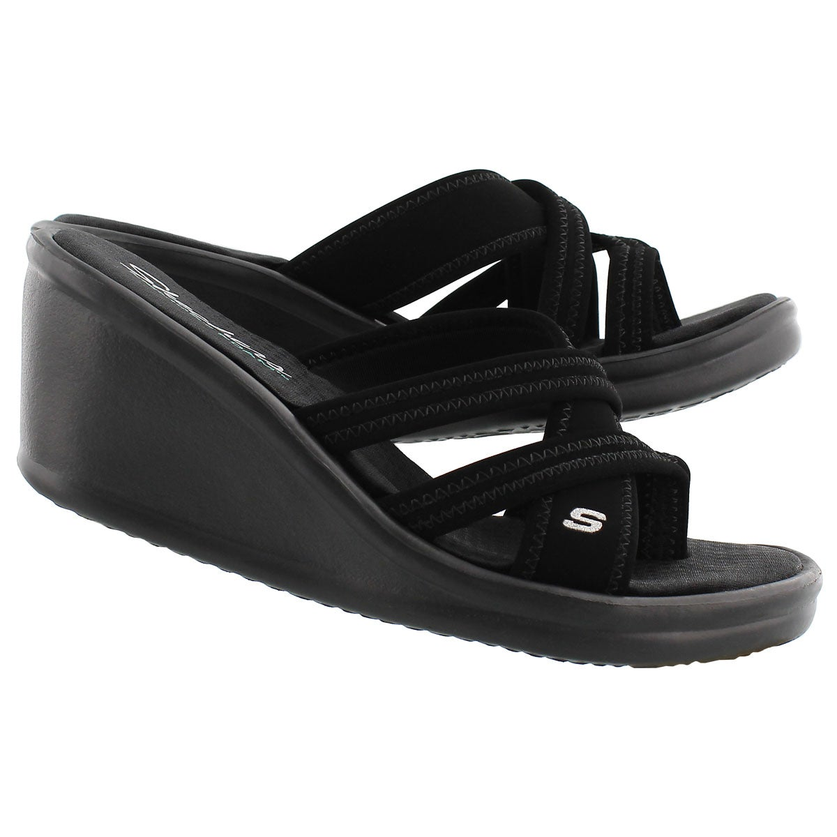 Lds Young At Heart black wedge sandal