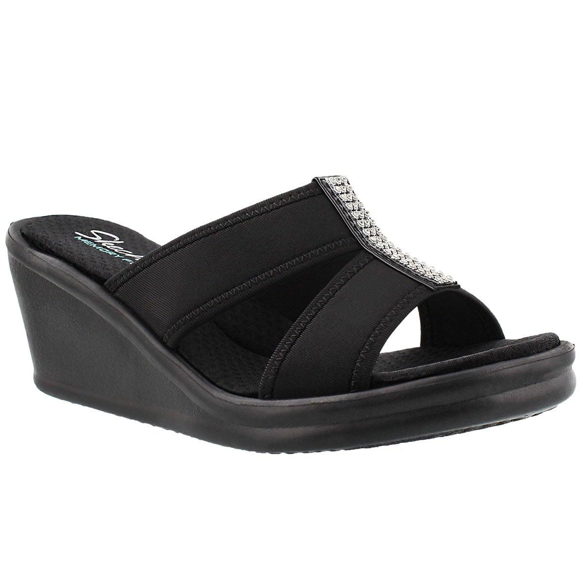 Women's RISK TAKER black wedge sandals
