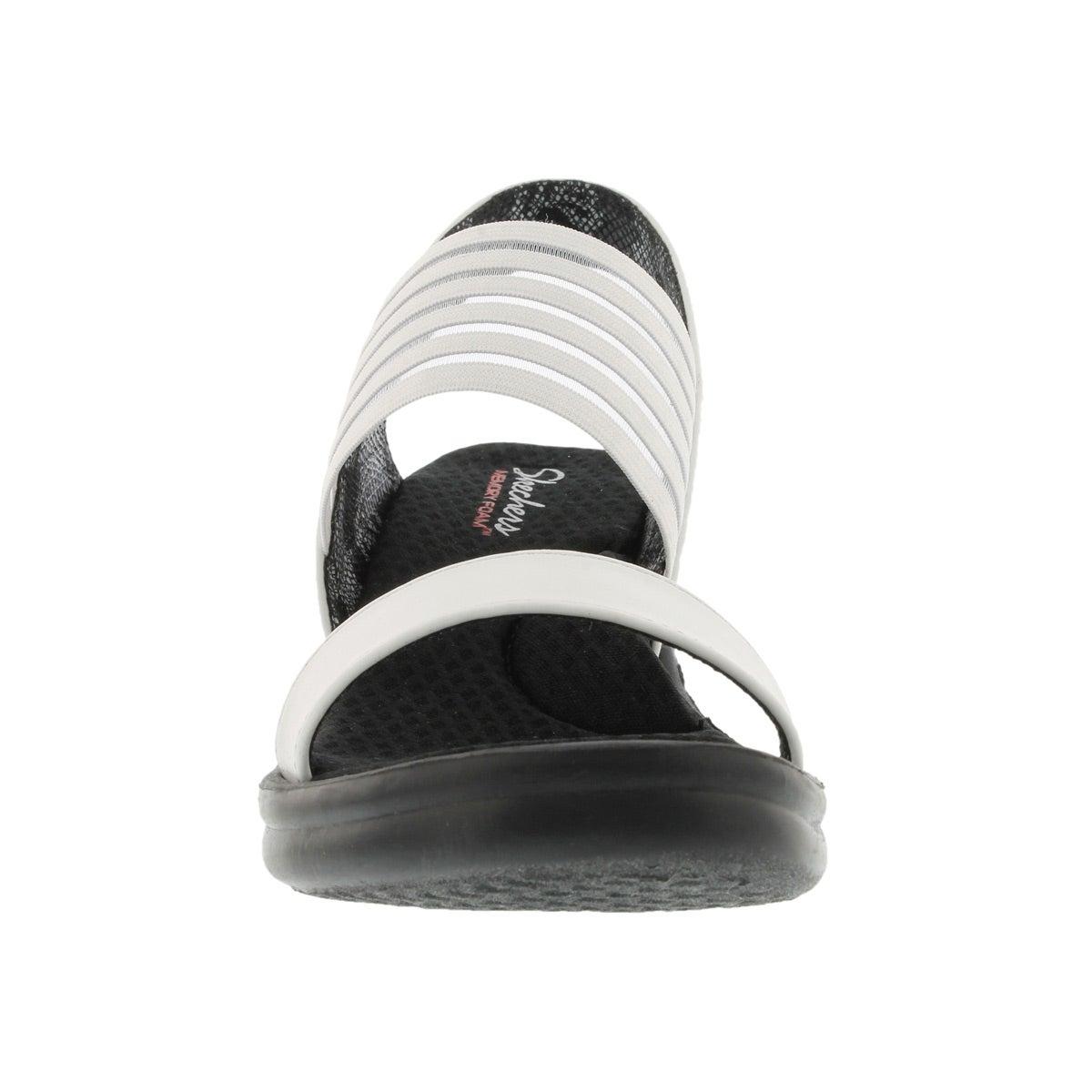 Lds Sci-fi wht sling back wedge sandal