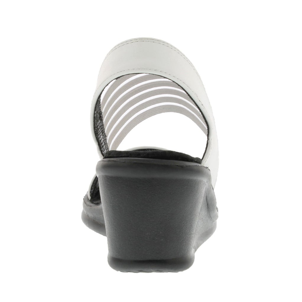 Lds Sci-fi wht sling back wedge sandal