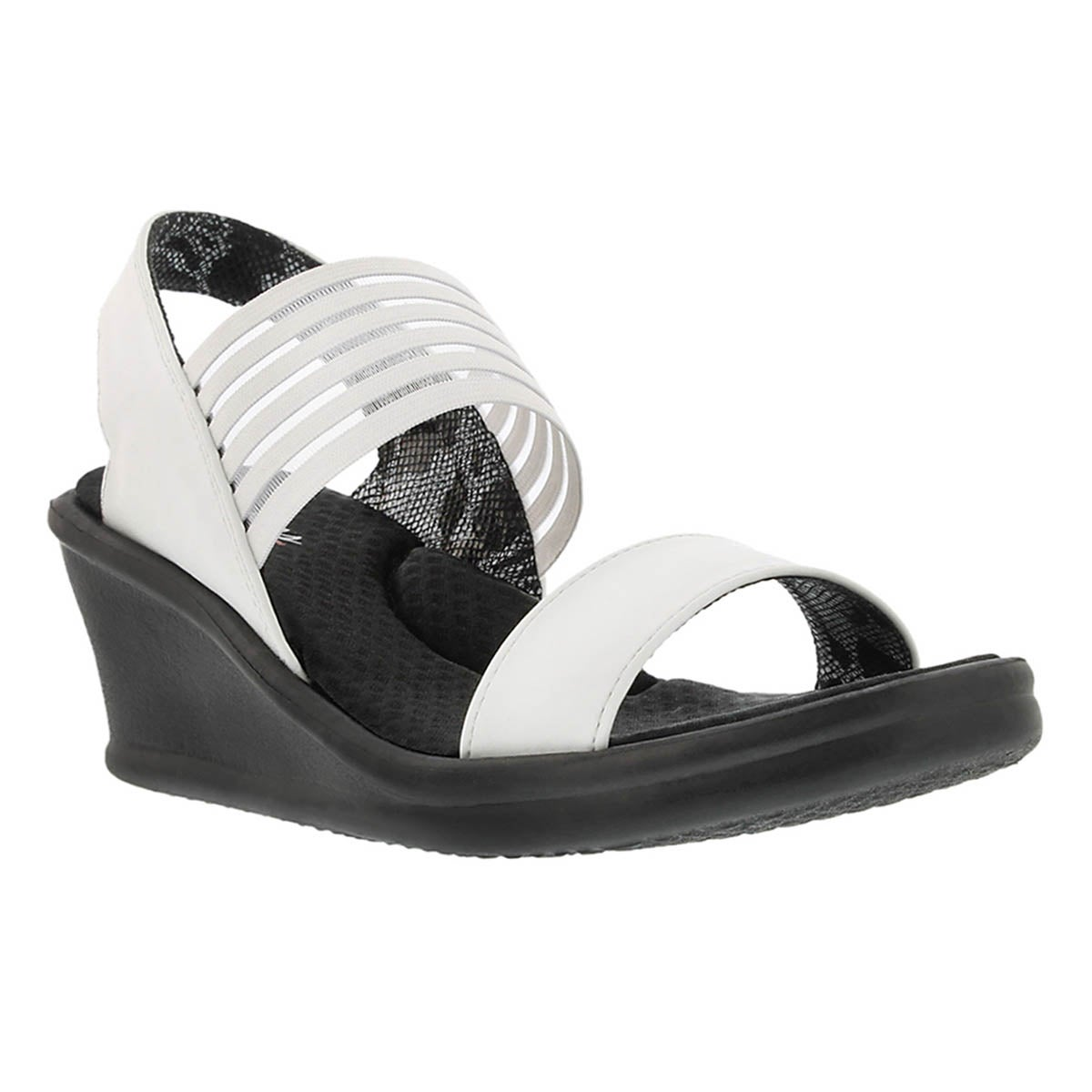 Women's SCI-FI white sling back wedge sandals