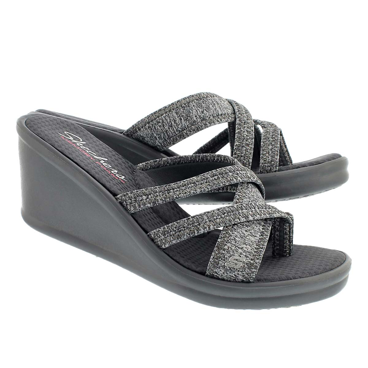Lds Rumblers gry thong wedge sandal