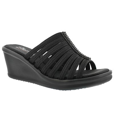 Lds Hotshot black wedge sandal