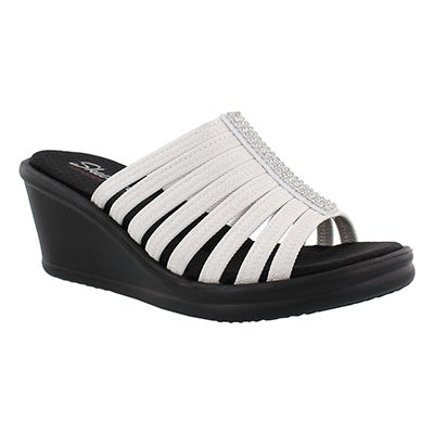 Lds Hotshot white wedge sandal