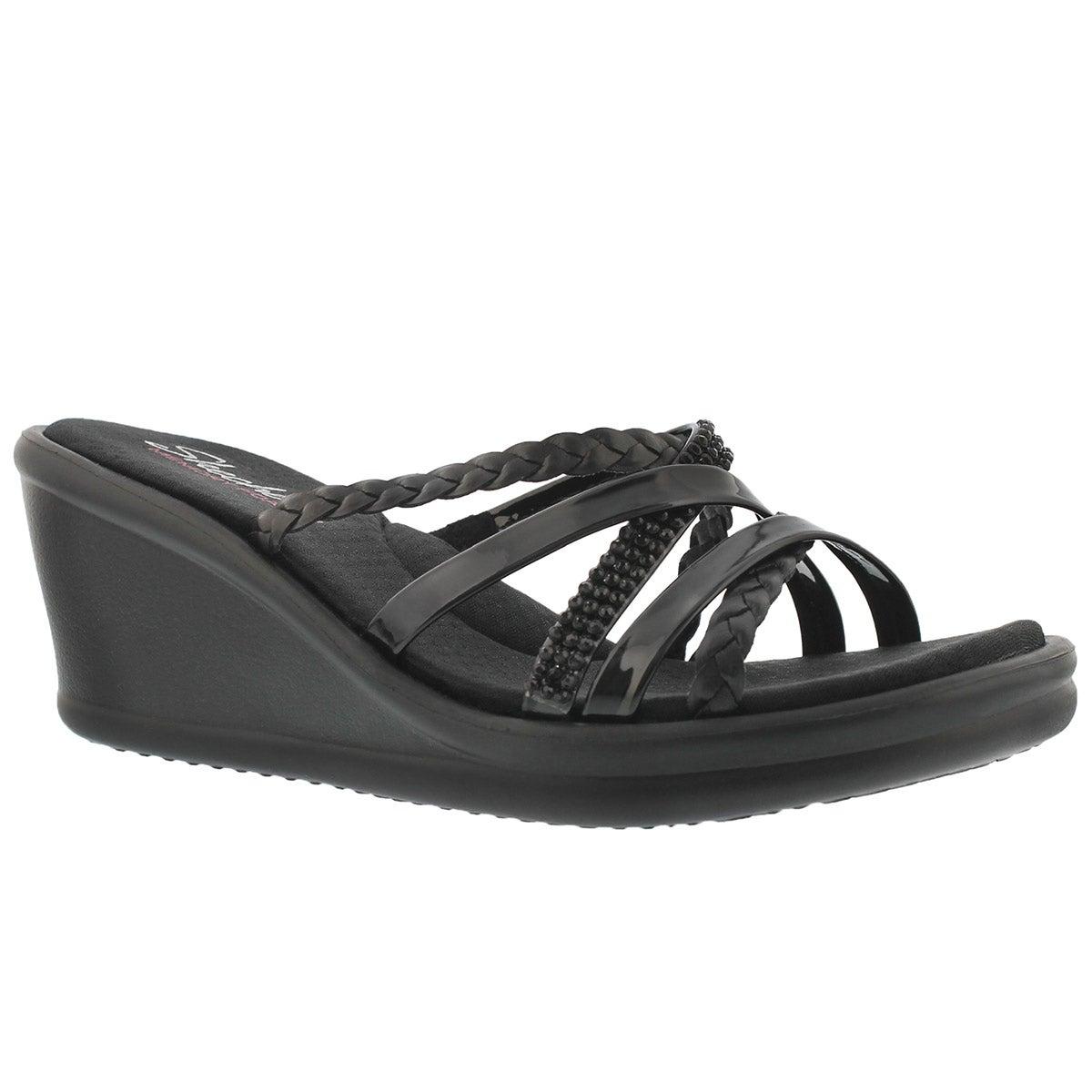 Women's WILD CHILD black wedge sandal