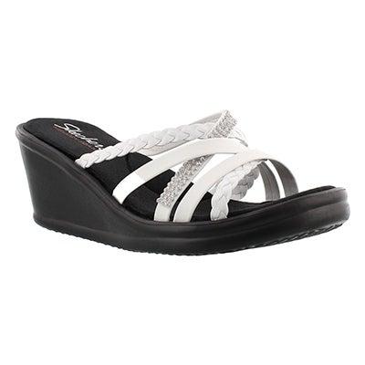 Skechers Women's WILD CHILD white wedge sandals