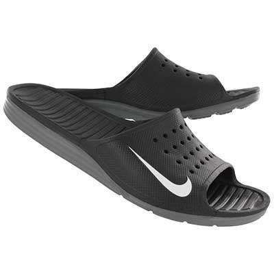 Nike Men's SOLARSOFT black/white soccer slide sandals