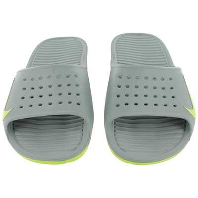 Nike Men's SOLARSOFT grey/green soccer slide sandals