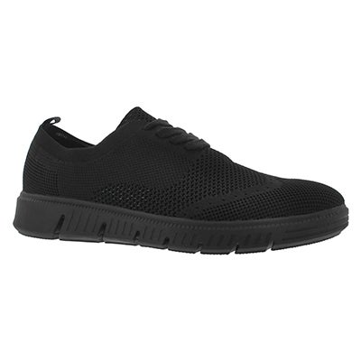 Mns Falco Knit blk lace up casual oxford