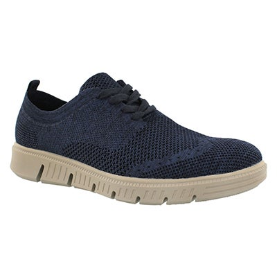 Mns Falco Knit nvy lace up casual oxford
