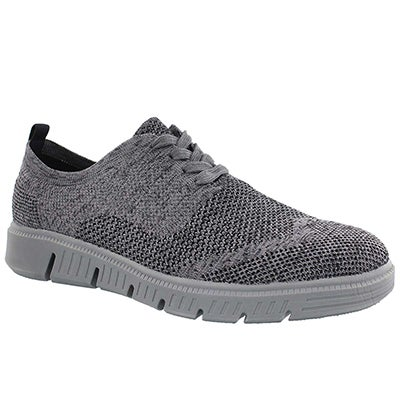 Mns Falco Knit gry lace up casual oxford