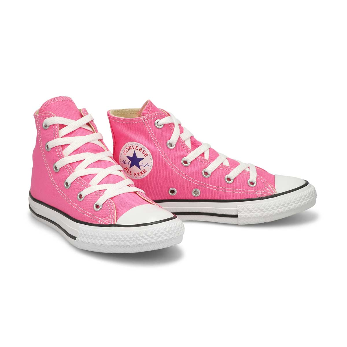 Grls CTAS Core pink high top sneaker