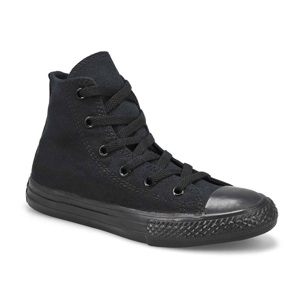 Kds CTAS black mono hi top sneaker