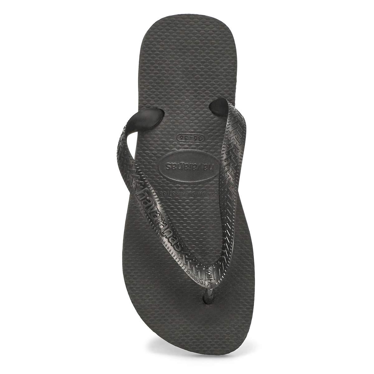 Lds Top black flip flop