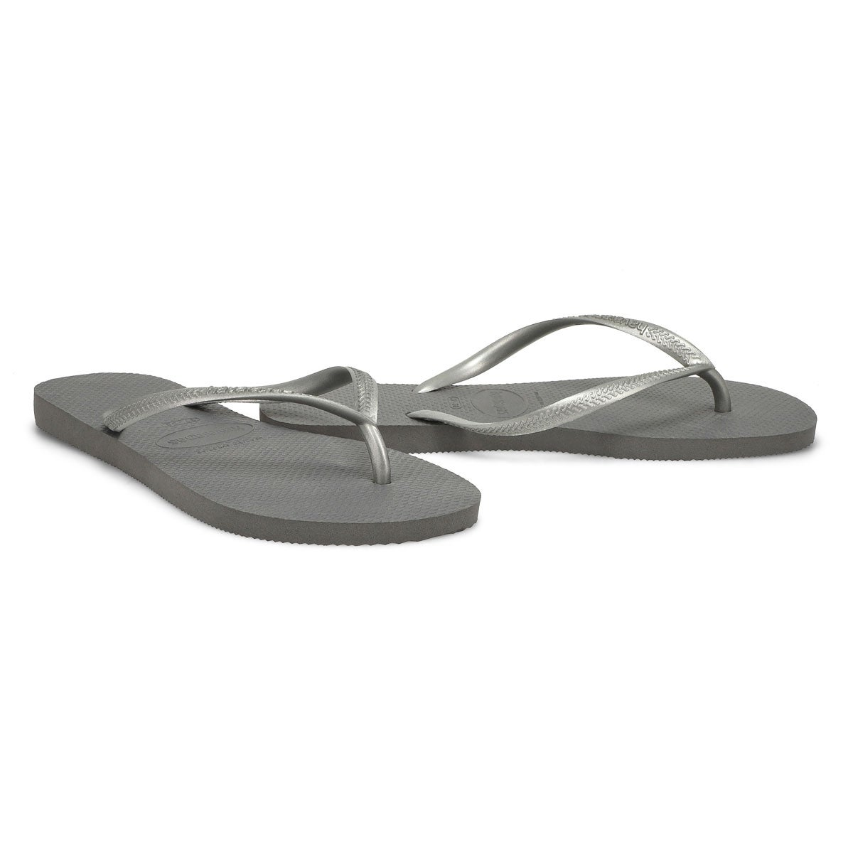 Lds Slim steel grey flip flop