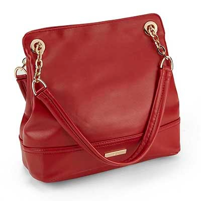 Heys Women's CHAIN red double strap shoulder bag