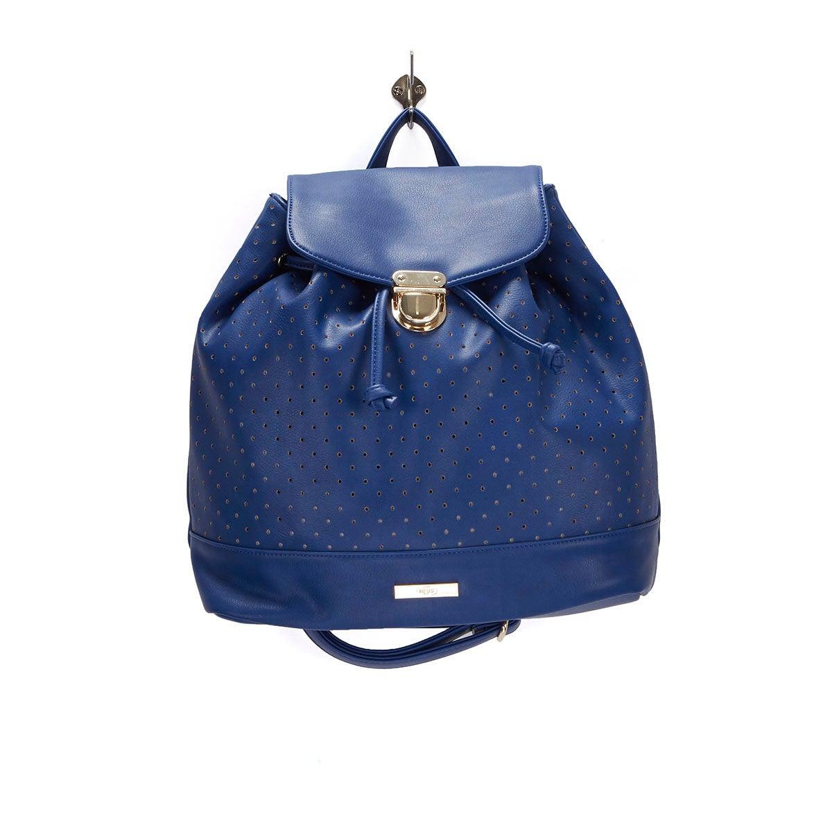 Lds Laser navy dot backpack
