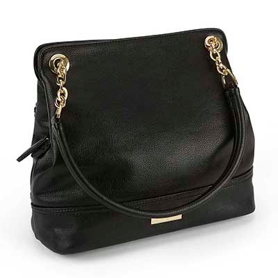 Heys Women's CHAIN black double strap shoulder bag