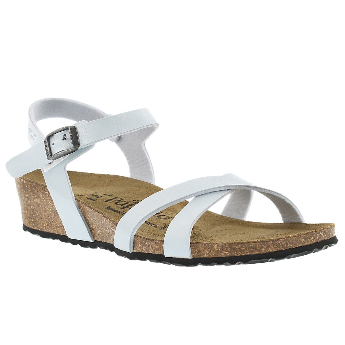 Lds Alyssa blue wedge sandal-Narrow