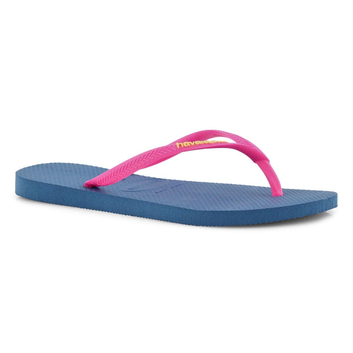 Lds Slim Logo Pop Up blue flip flop