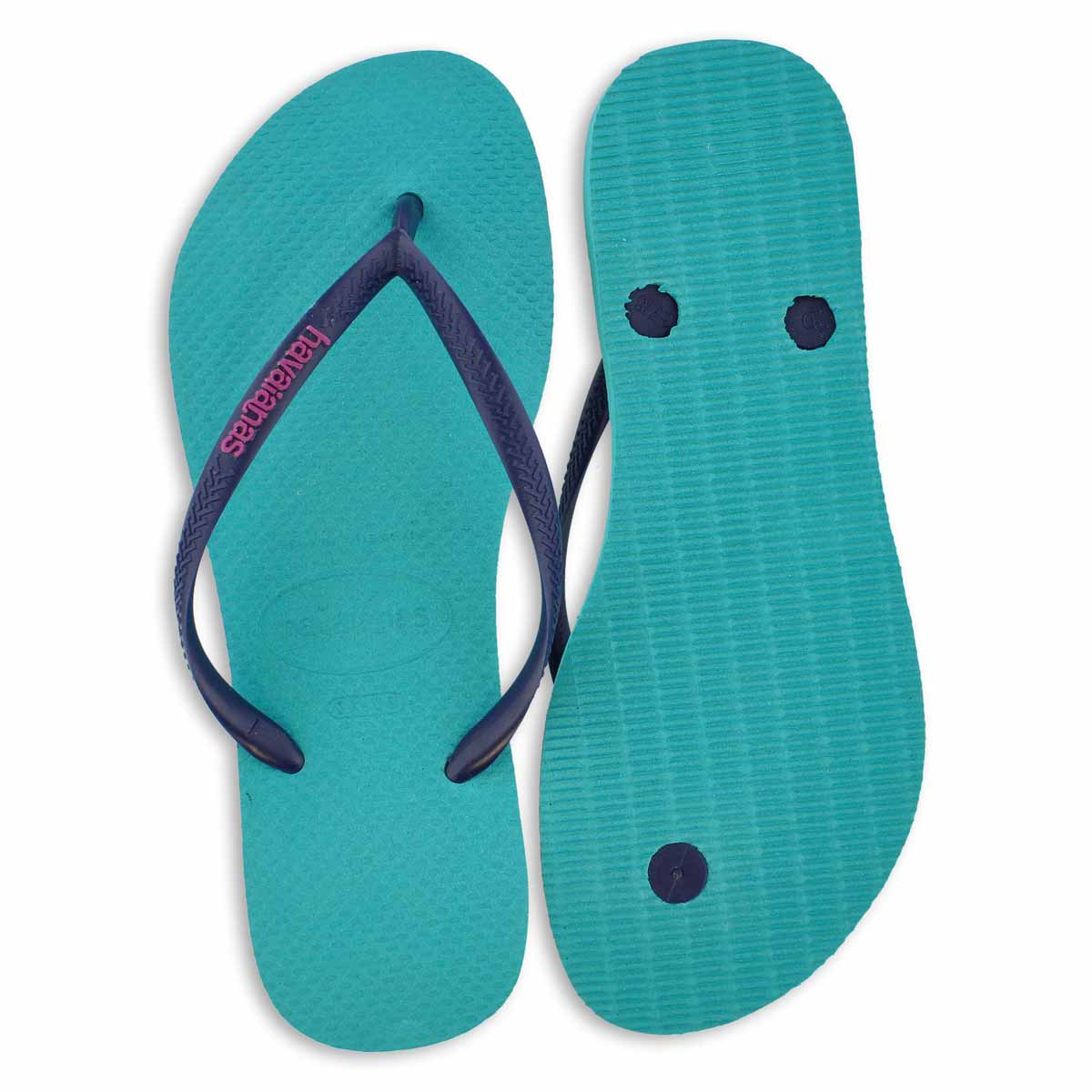 Lds Slim Logo Pop Up lake grn flip flop