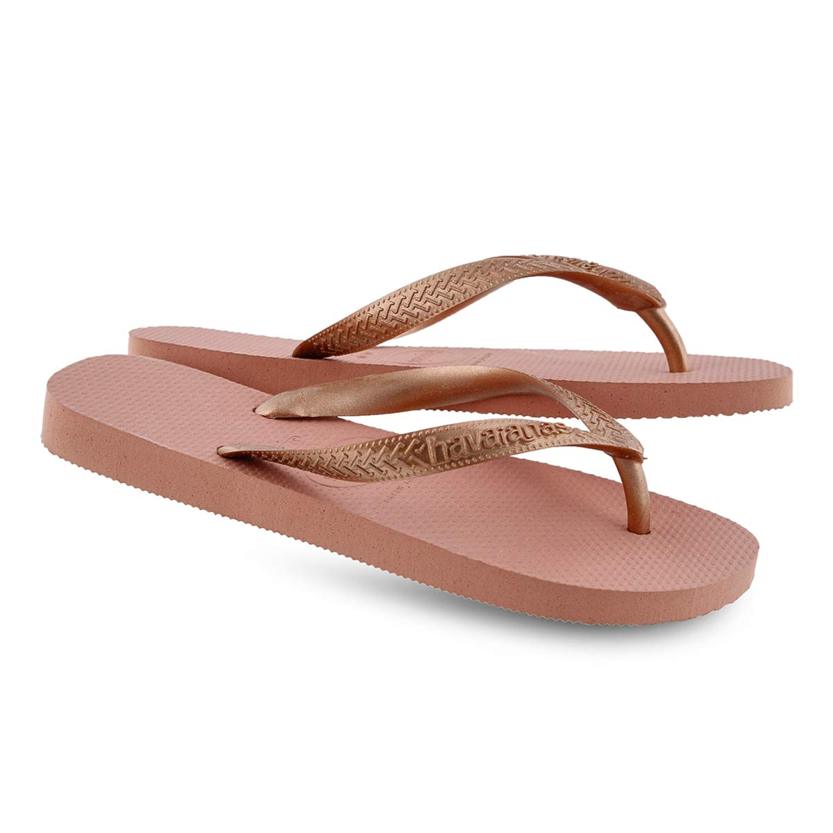 Lds Top Tiras rose nude flip flop