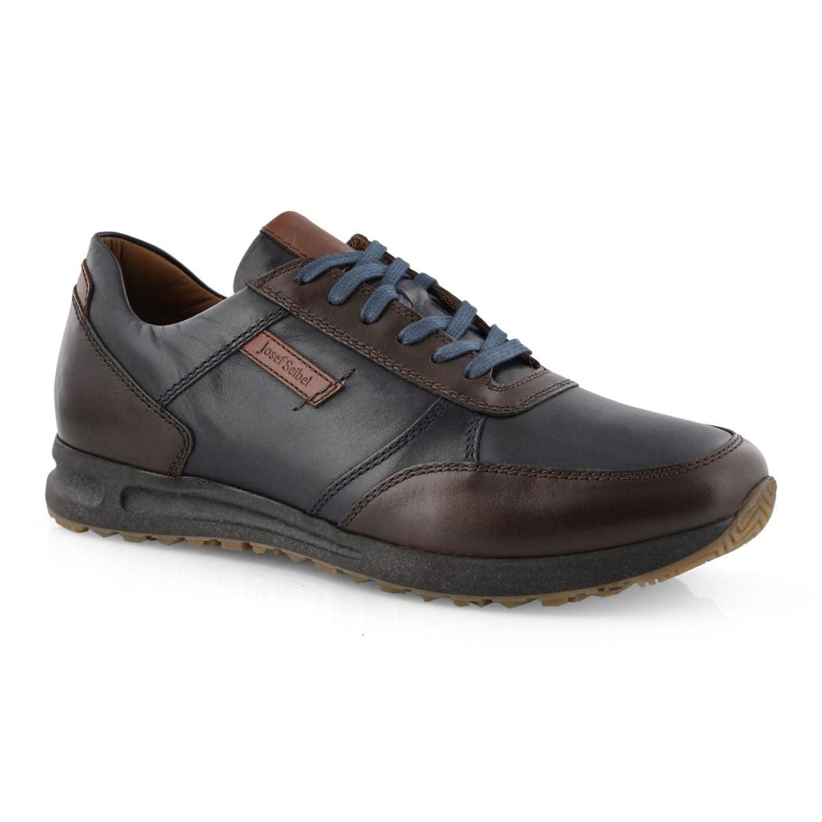 Mns Thaddeus 07 blue lace up sneaker
