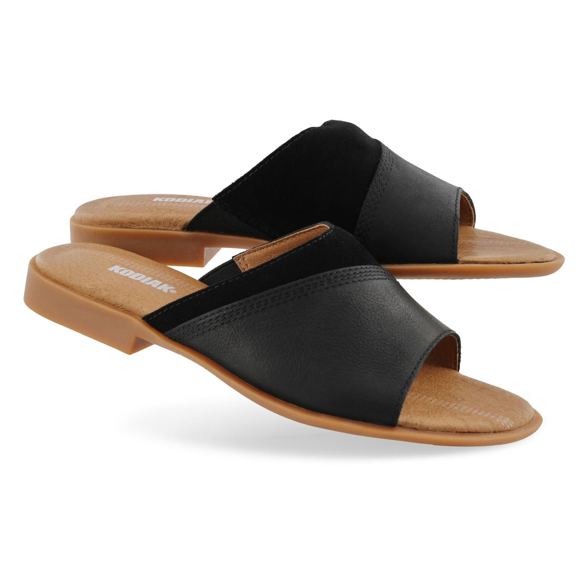 Lds Alexi black casual slide sandal