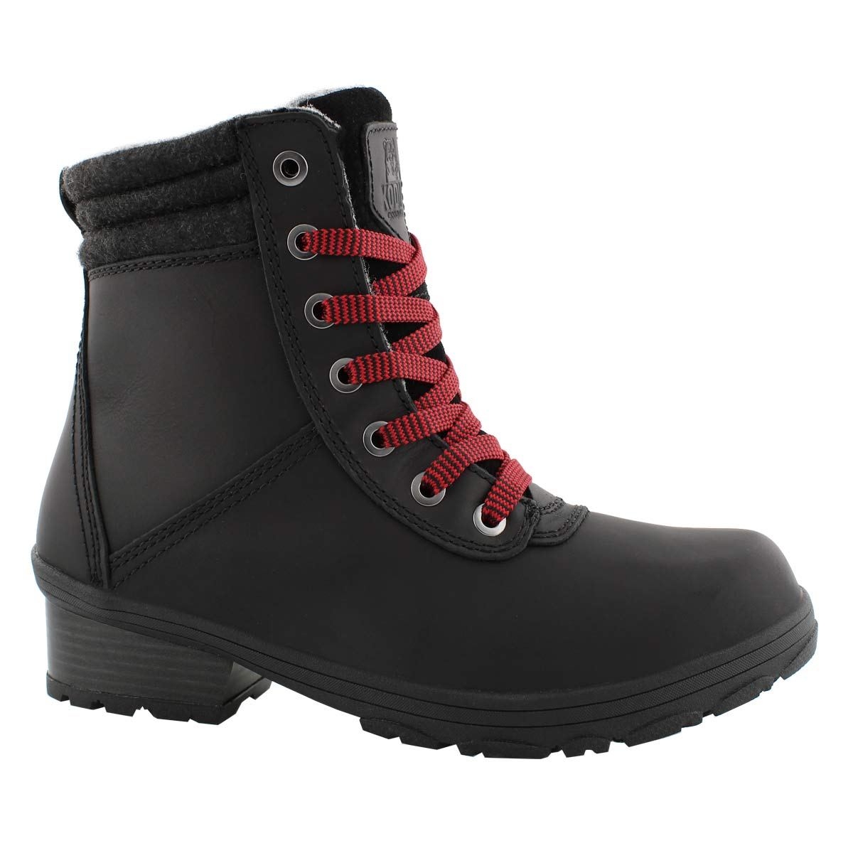 Lds Shari black wtpf lace up winter boot
