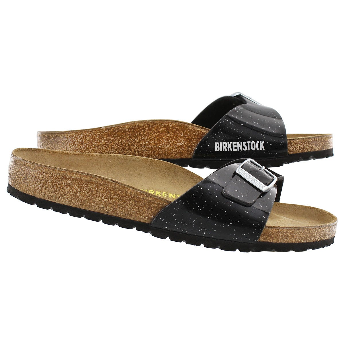 Lds Madrid magic galaxy blk slide sandal