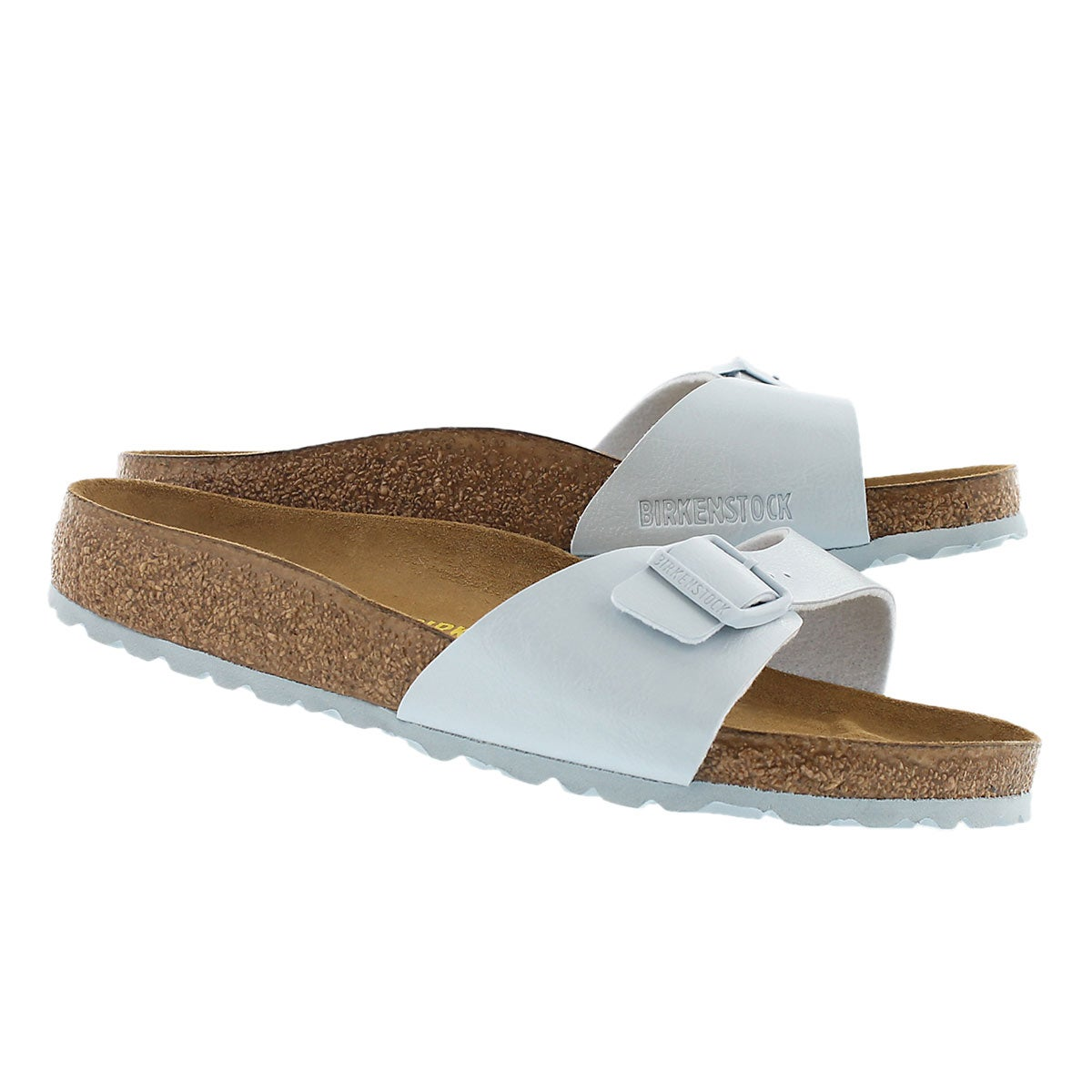 Lds Madrid baby blue 1 strap sandal