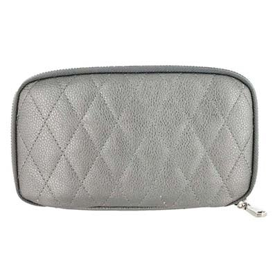 Co-Lab Women's ZIP AROUND pewter quilted wallet