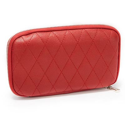 Co-Lab Women's ZIP AROUND red quilted wallet