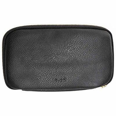 Co-Lab Women's ZIP AROUND black pebble wallet