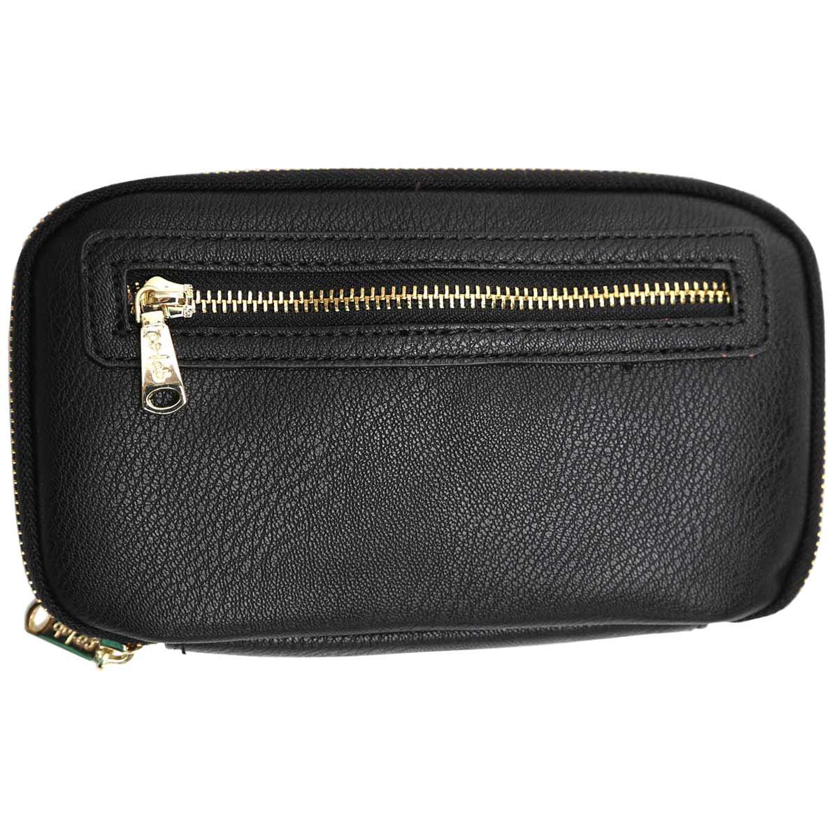 Zip Around black pebble wallet