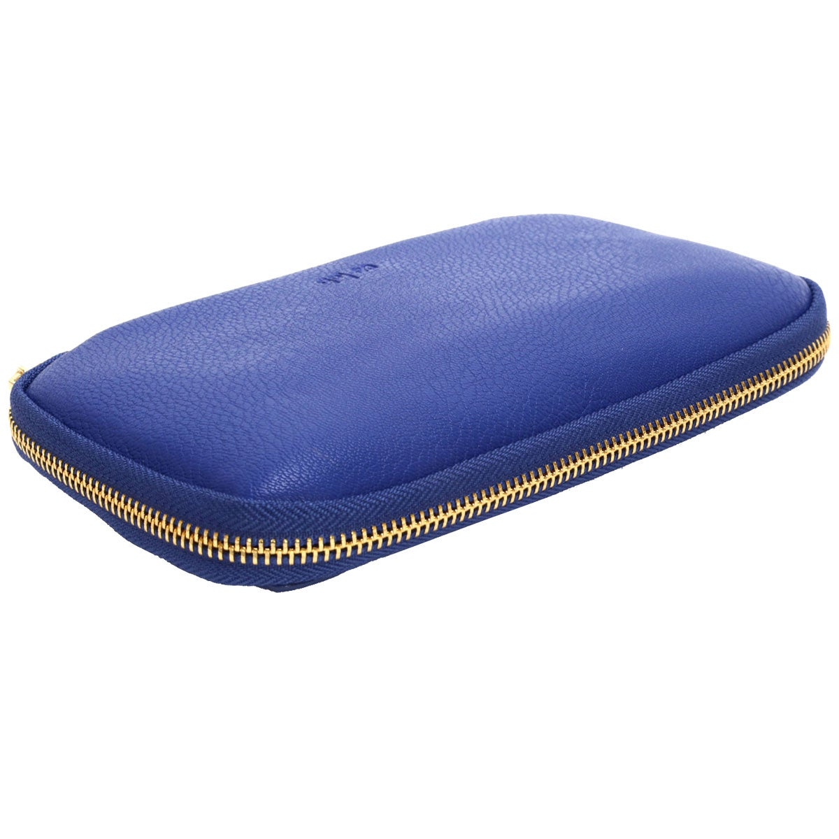 Zip Around cobalt pebble wallet