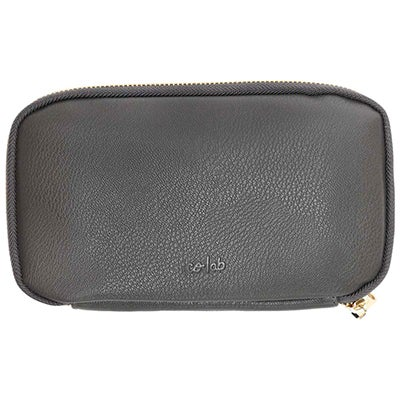Co-Lab Women's ZIP AROUND grey pebble wallet