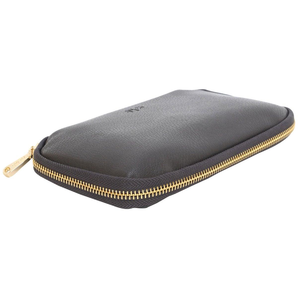 Zip Around grey pebble wallet
