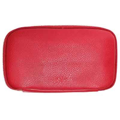 Co-Lab Women's ZIP AROUND red pebble wallet