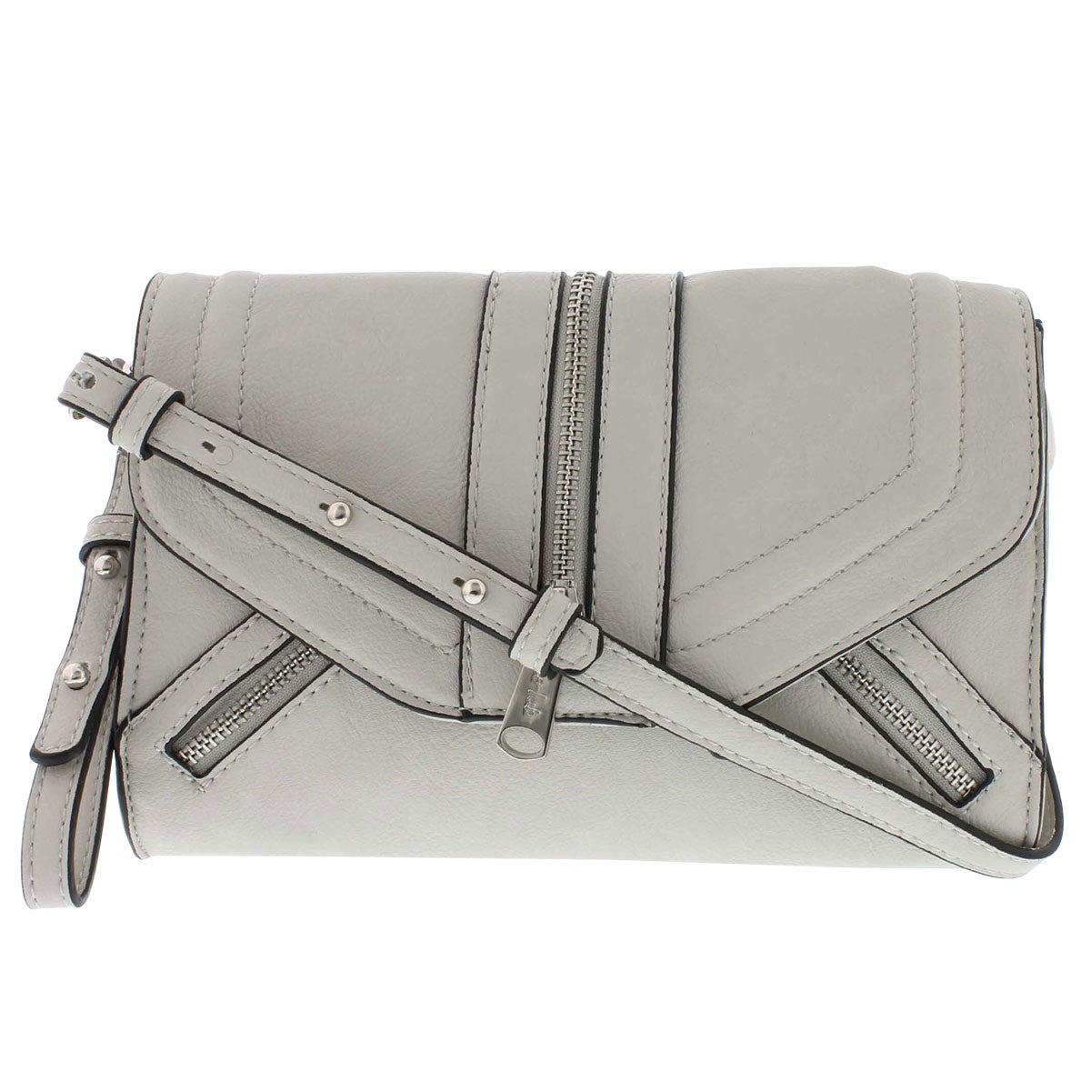 Lds Emma grey 2strap convertible clutch