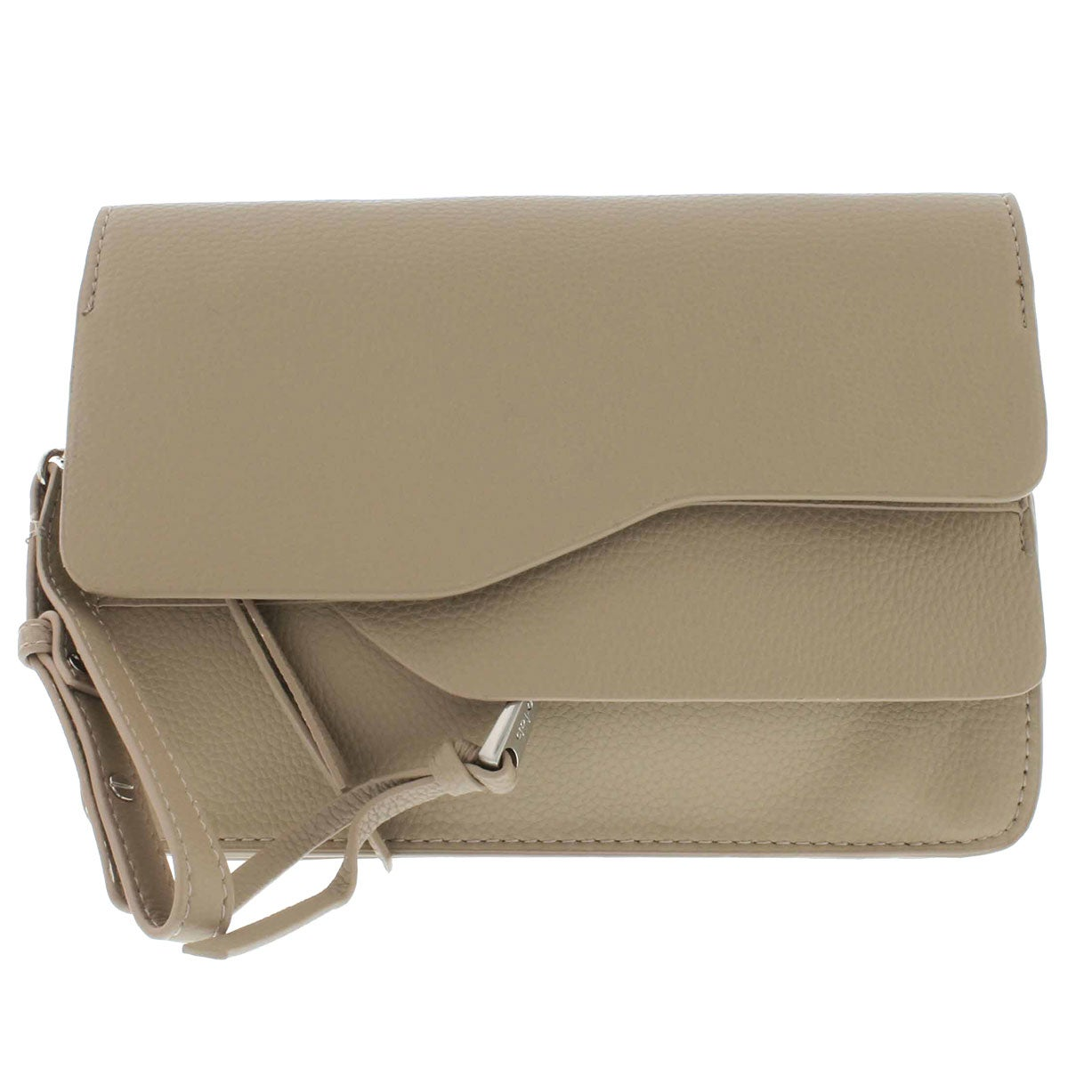 Women's CHRIS taupe convertible clutch wristlet
