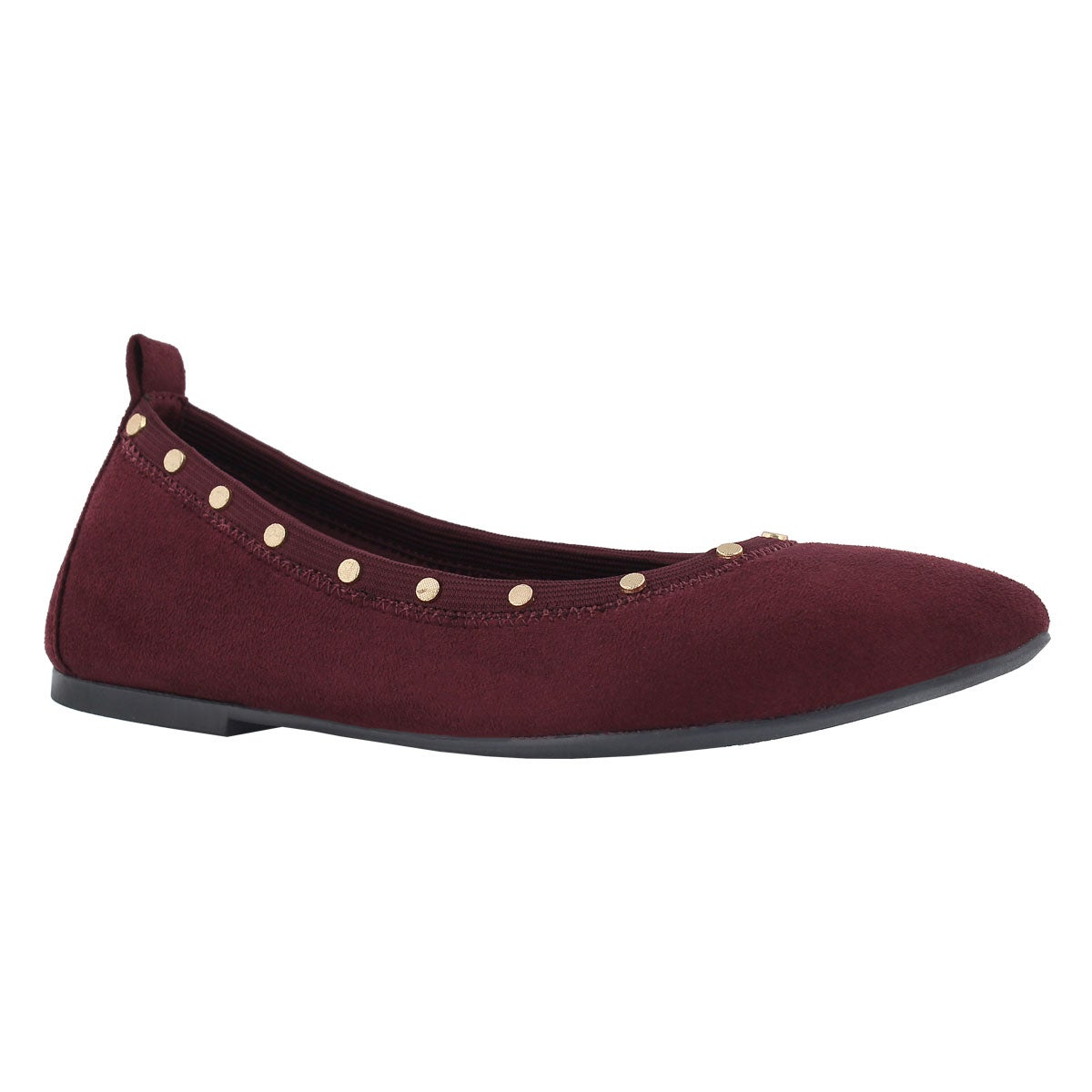 Women's CLEO burgundy studded casual flats