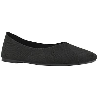 Lds Cleo black casual flat