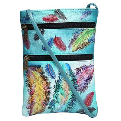 Anuschka Women's FLOATING FEATHERS travel organizer