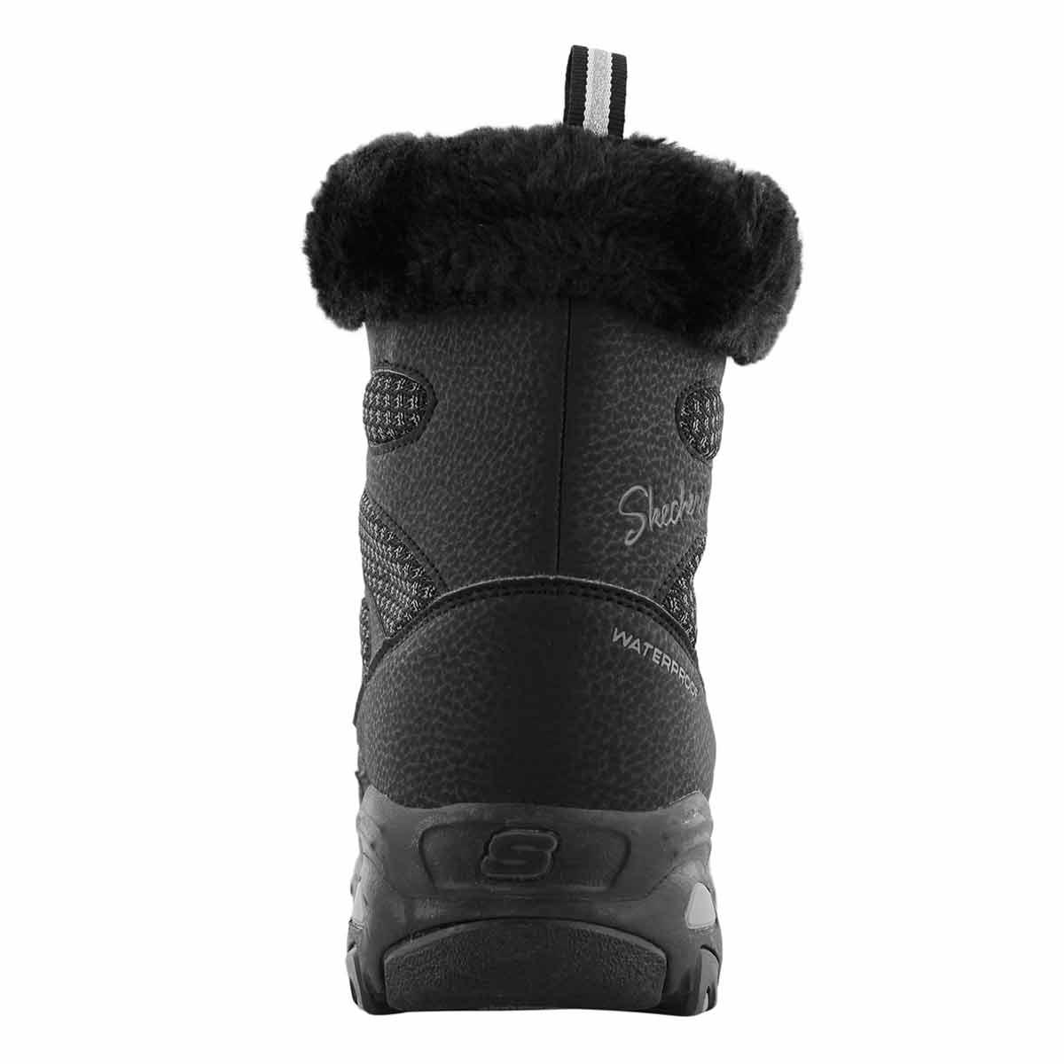 Lds D'Lites black wp lace up winter boot
